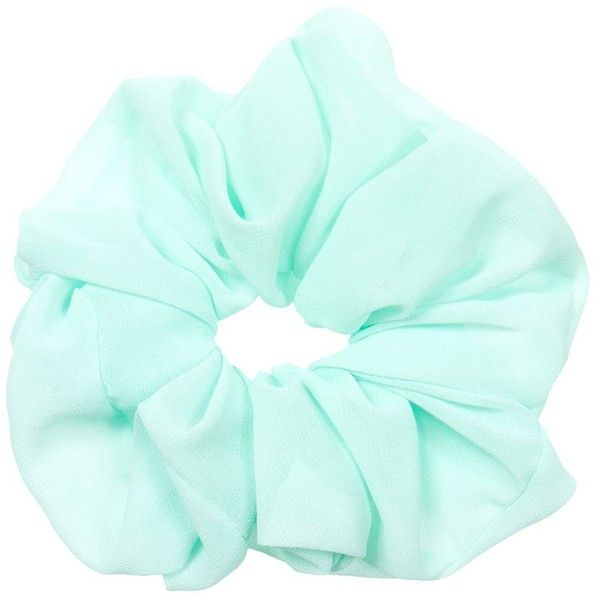 Mint Green Oversize Scrunchie (20 ARS) ❤ liked on Polyvore featuring accessories, hair accessories, hair, fillers, scrunchies, mint green and scrunchie hair accessories