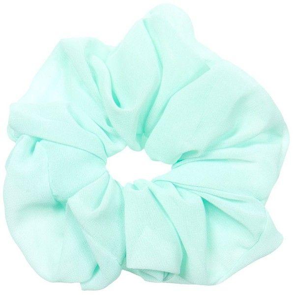 Mint Green  Metallic Bunny Ear Wired Scrunchie Scrunchie Haven