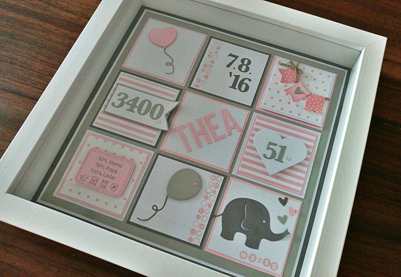 Individuelles Geschenk zur Geburt oder Taufe (Rahmen Ribba Ikea ...