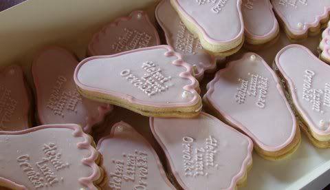 foot cookies