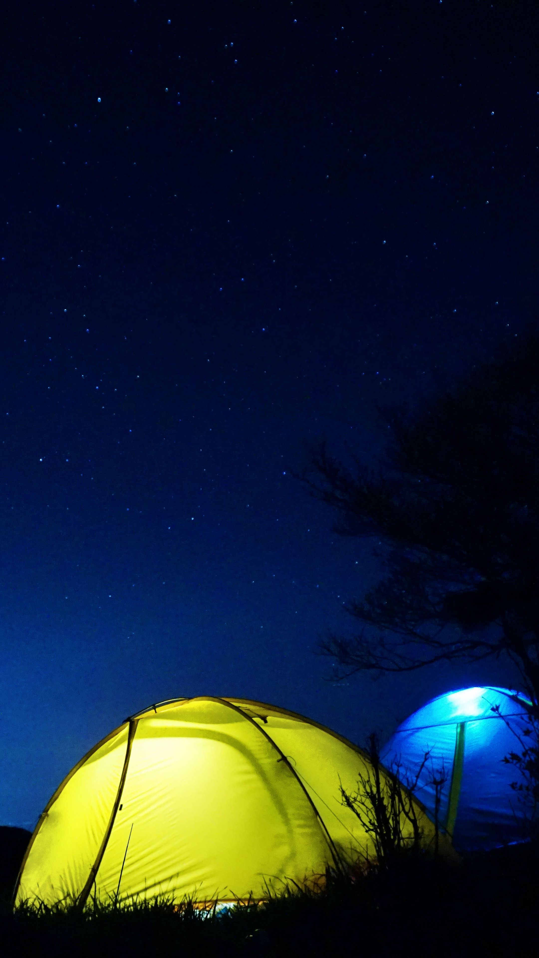 Nature tent night starry sky wallpapers hd 4k
