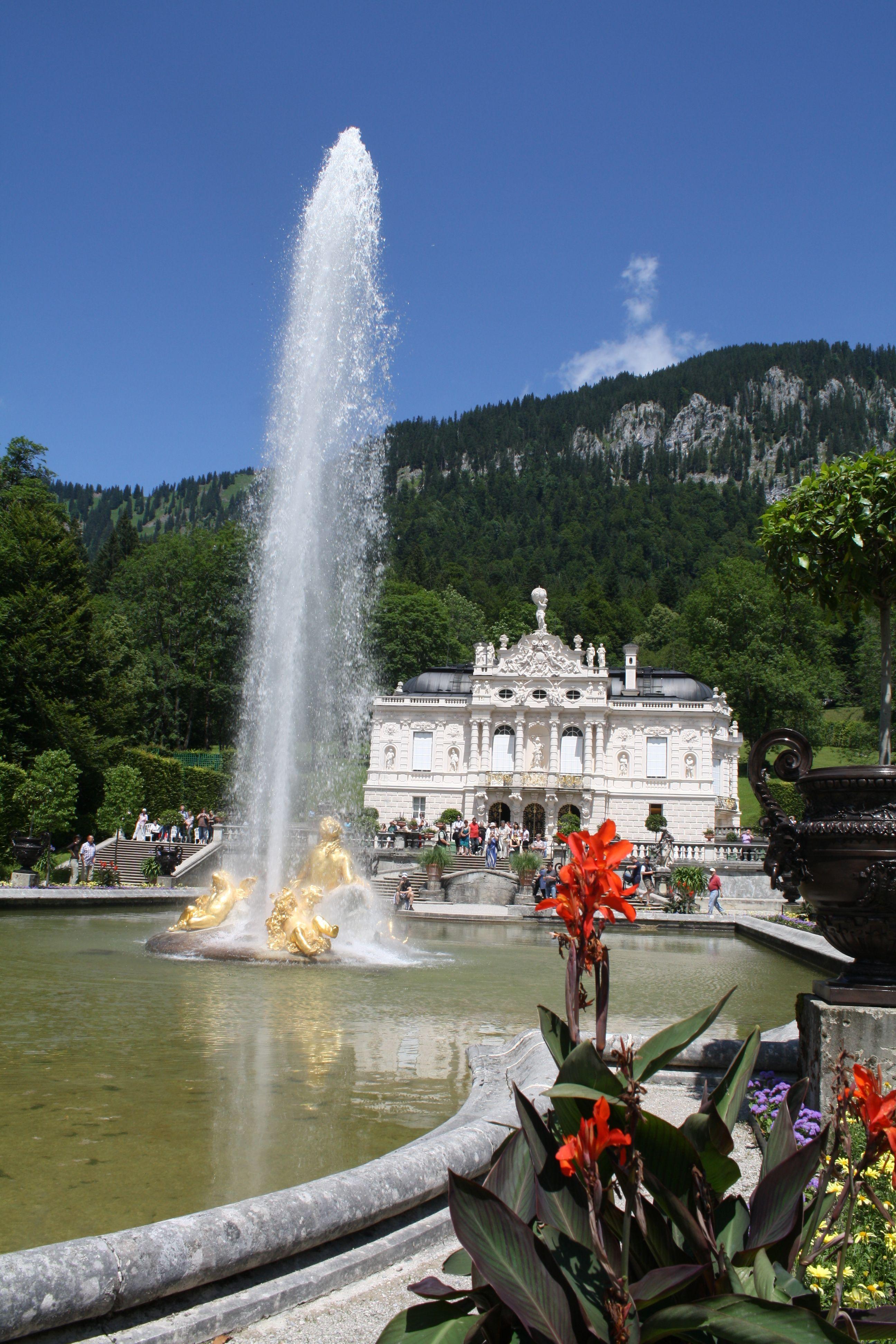 Schloss Linderhof Wasserspiele Im Park Deutschland Burgen Schloss Linderhof Ausflug