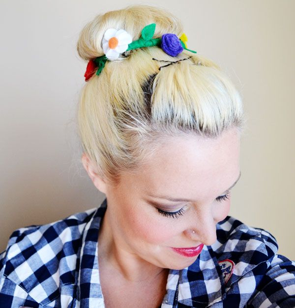 Spring Fling Day 3: Urban Outfitters-Inspired Bun Wrap by Peacoats and Plaid