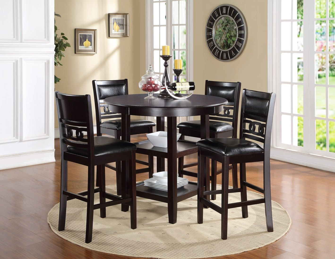 Gia Pub Set Counter Height Table And 4 Chairs 45900 42 X