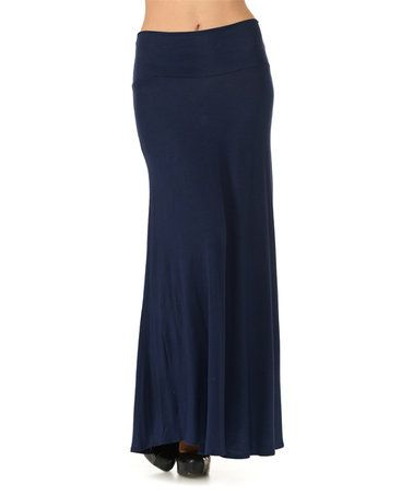 Look what I found on #zulily! Navy Maxi Skirt by Cool Melon #zulilyfinds