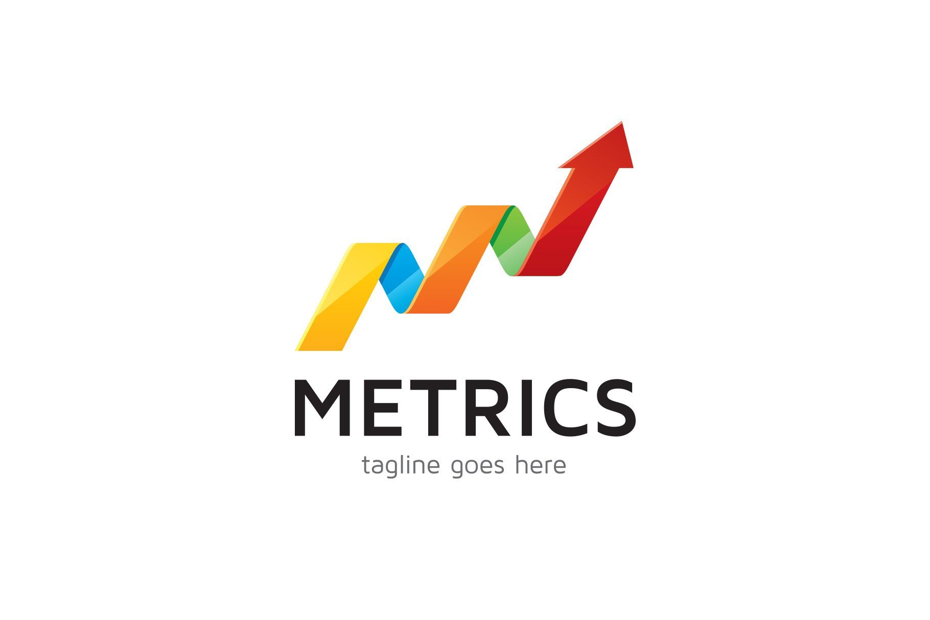 Metrics Arrow Logo In 2020 Arrow Logo Logo Branding Identity Logo Design Template