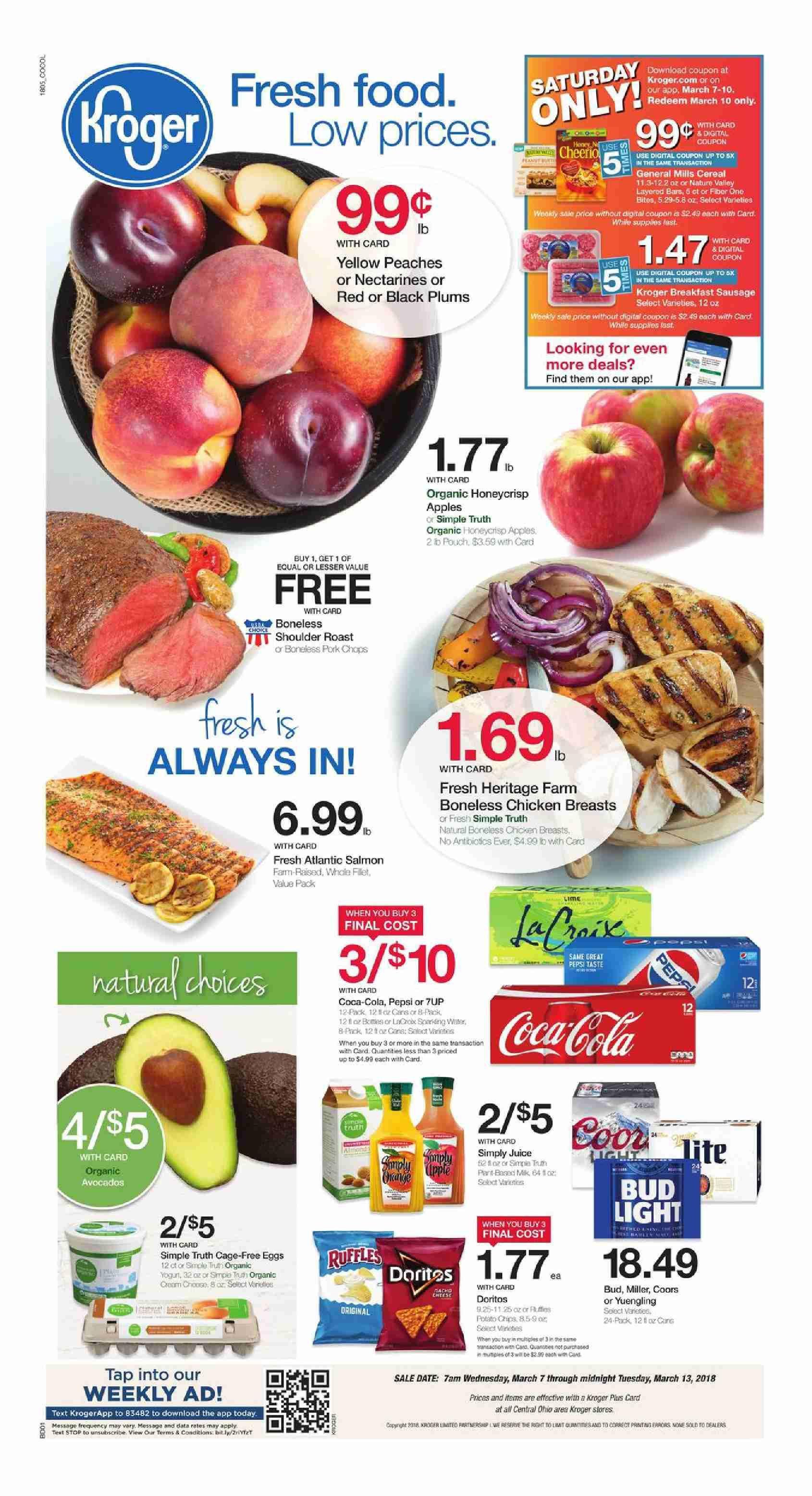 Kroger Weekly Ad Flyer March 11 17 2020 Weeklyad123 Com Kroger Fresh Food Food Menu