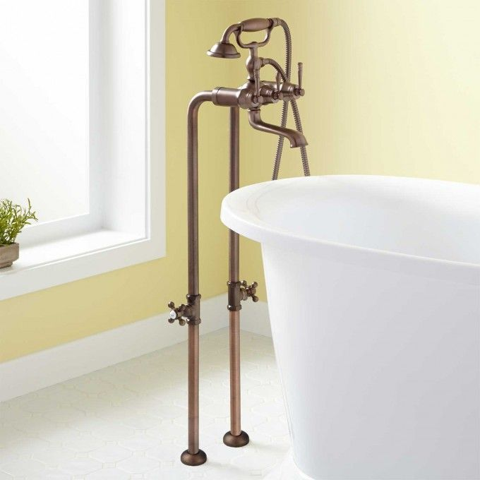 31 Brunswick Freestanding Tub Faucet Hand Shower Oil Rubbed