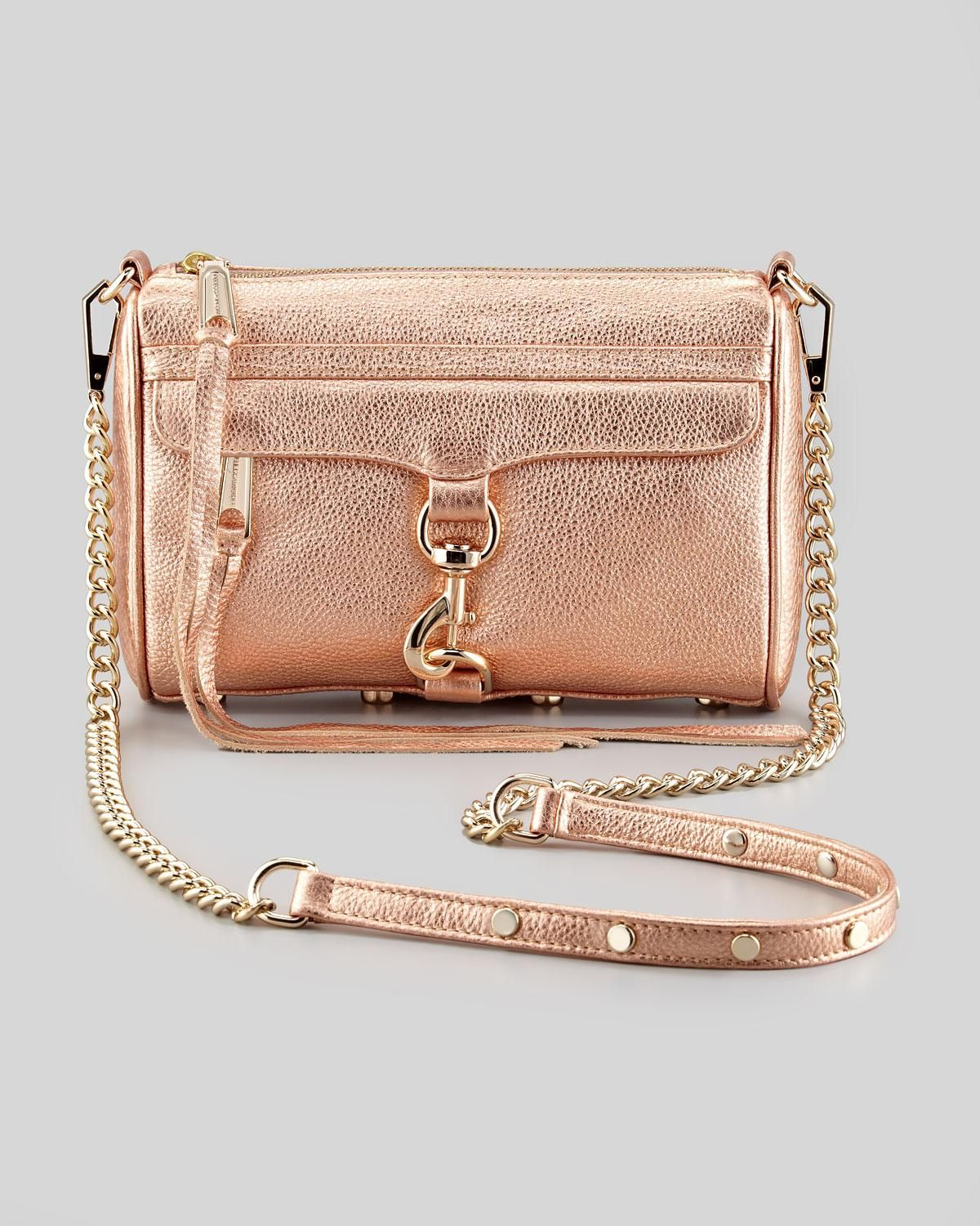 Rebecca Minkoff Mini M.A.C. Crossbody Bag,Rose Gold Gold