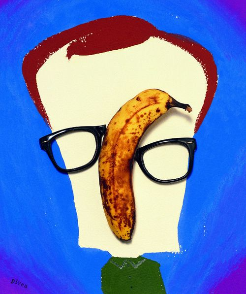Woody Allen by Hanoch Piven. Another fabulous collage caricature.
