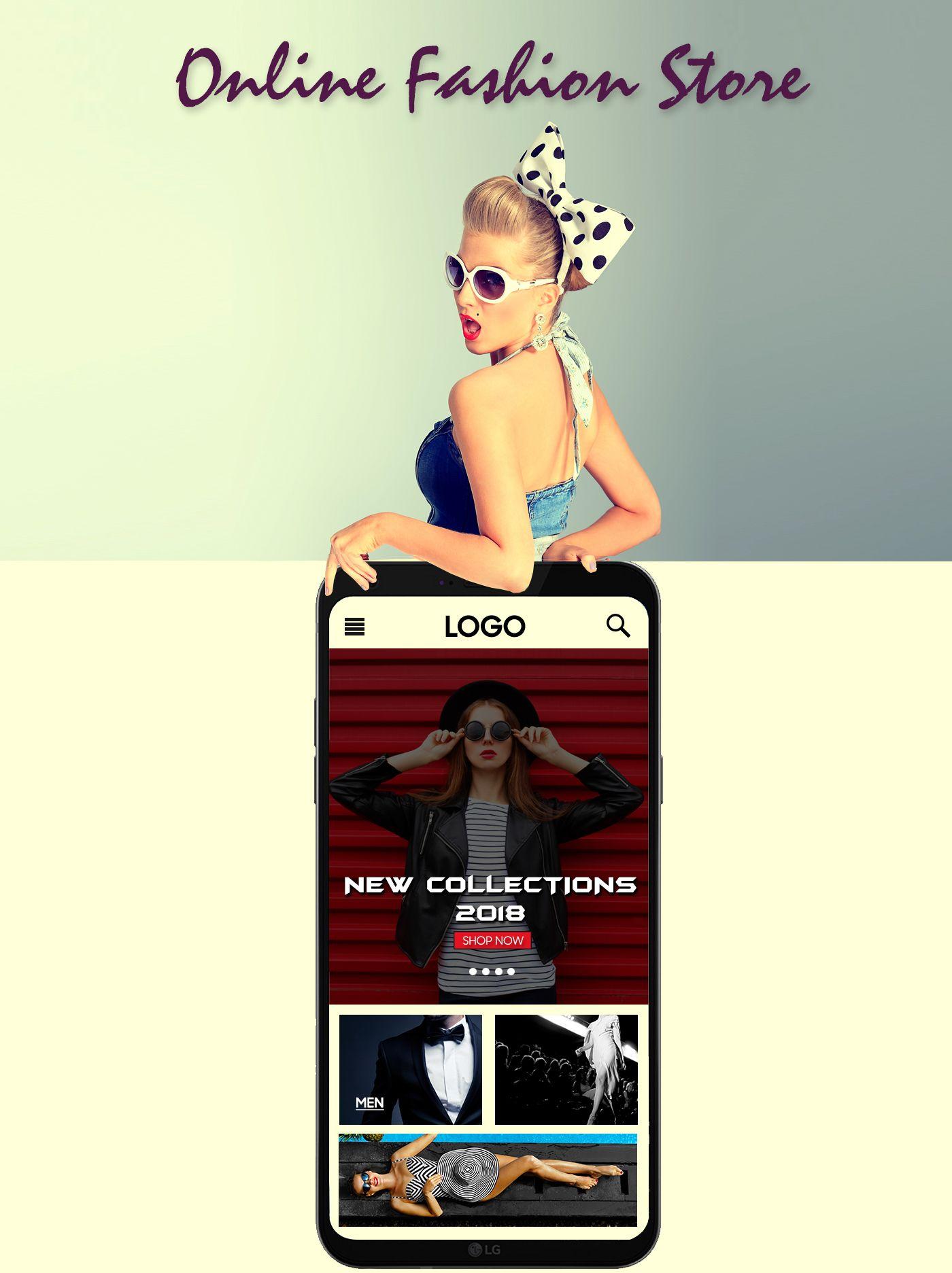 Mobile website concept for online fashion store part 1