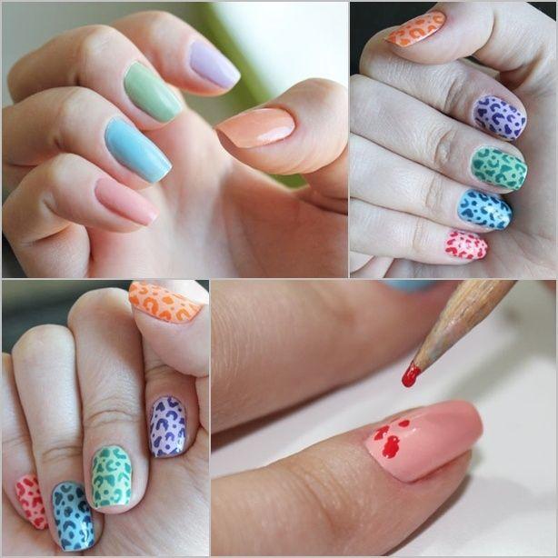 unas uñas lindas y fácil de hacer ♥ | todo Moda (maquillaje ...
