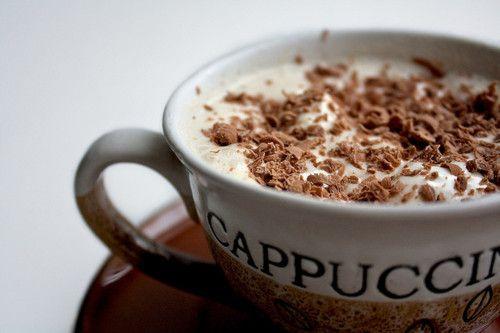 cappuccino, para combatir el frío.-