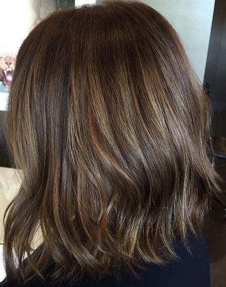 A More Subtle Brunette Balayage Blend Color By Kristie Sibson