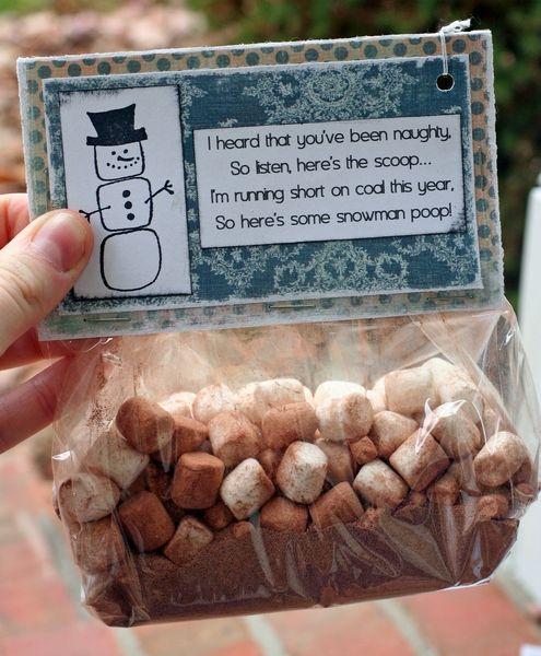 Snowman poop/soup: Each baggie should contain enough hot ...