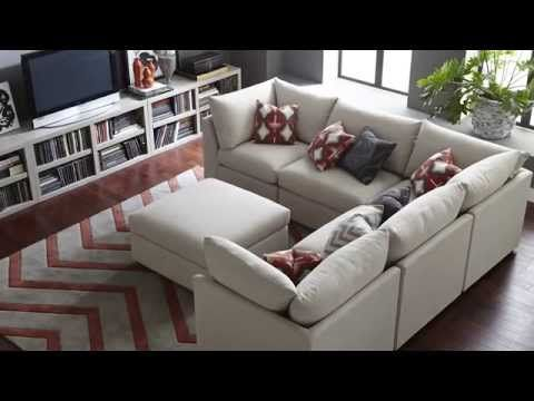 The Beckham Sectional Sofa by Bassett Furniture