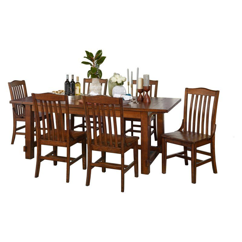 Target Marketing Systems Drake 7 Piece Rectangular Trestle Dining