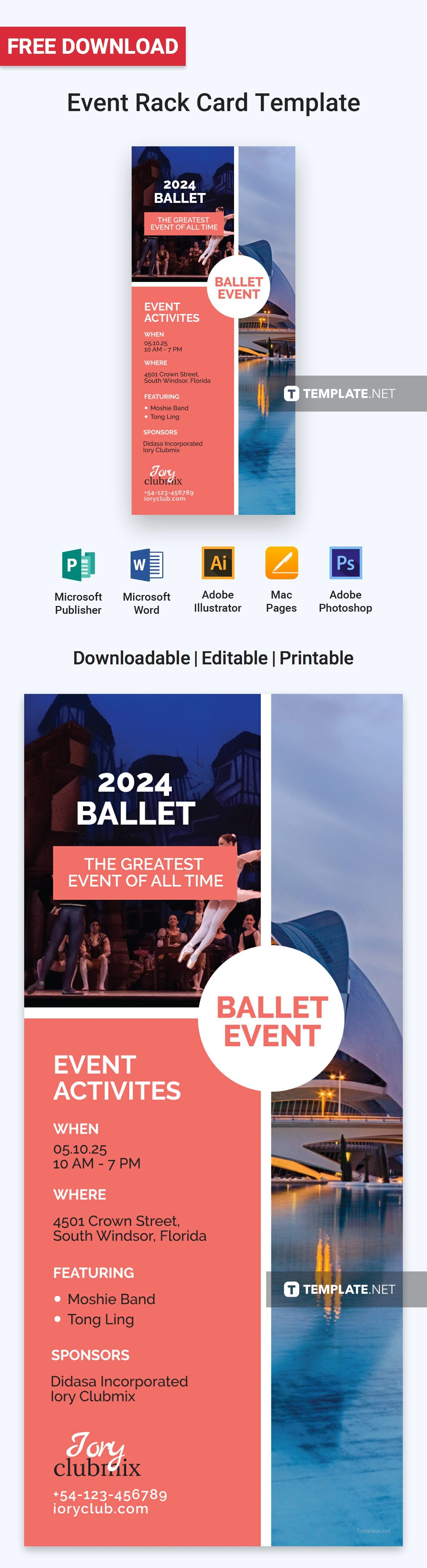 Event Rack Card Template Illustrator Word Apple Pages Psd Pdf Publisher Template Net Rack Card Templates Rack Card Card Template Rack card template microsoft word