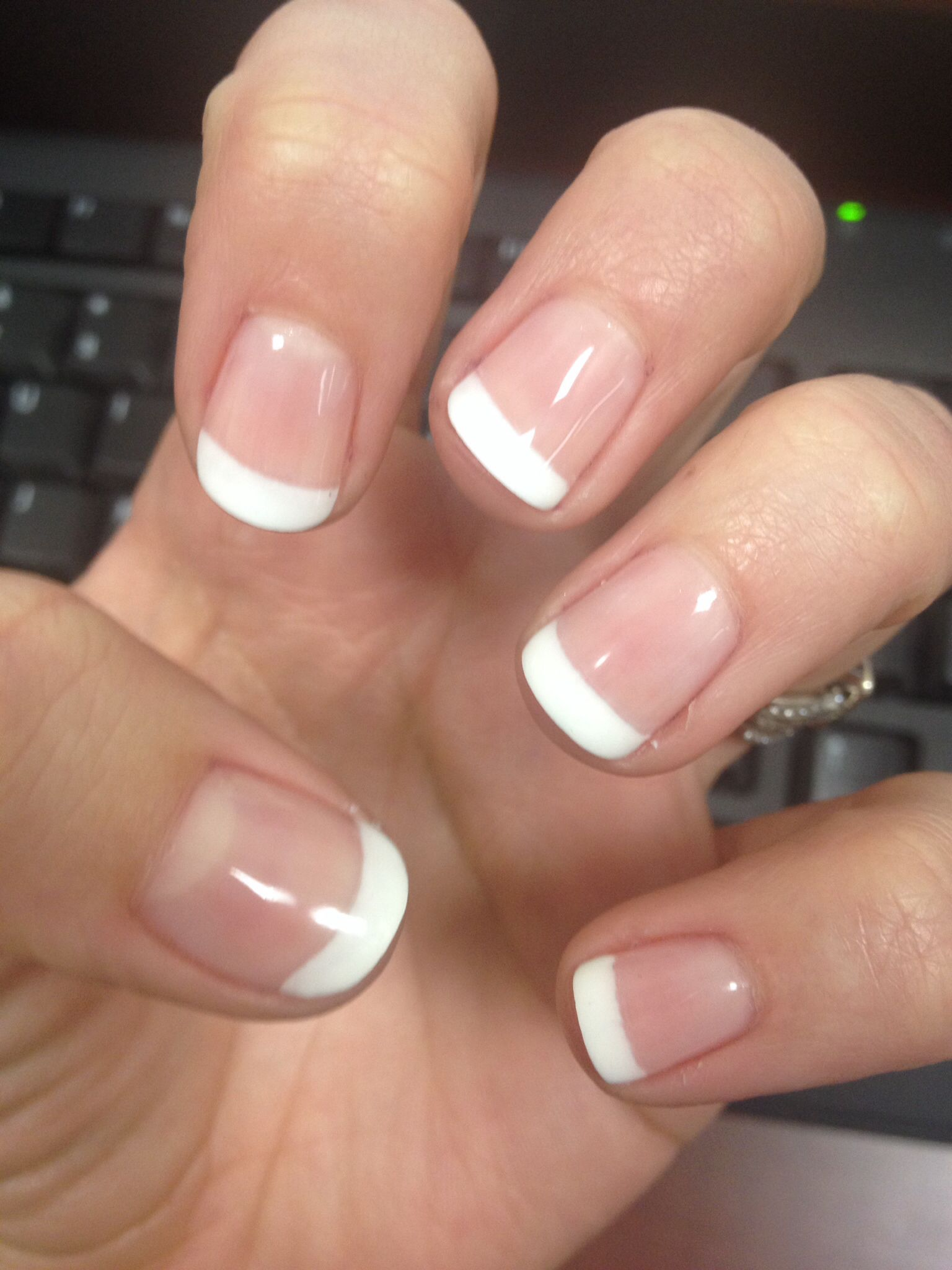 french manicure shellac nails