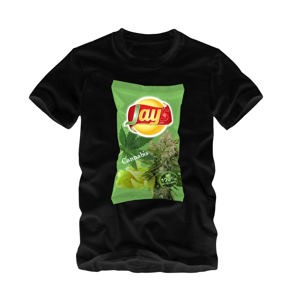 a1b87ce37 Cannabis 420 Weed Chips T-Shirt by Jay's | Weed 420 Cannibus T ...