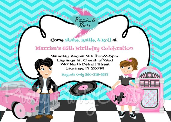 50s Sock Hop Invitation You Print Products In 2019 50s Sock