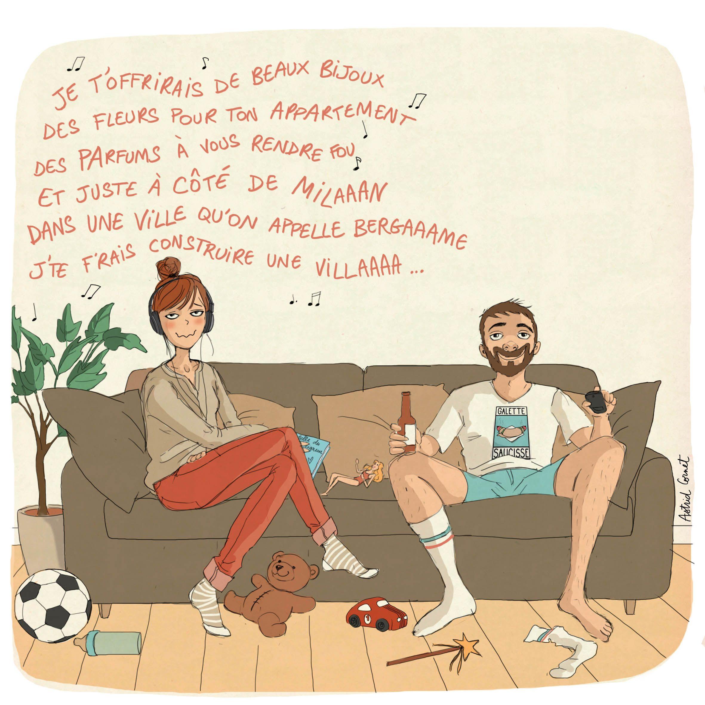 Illustration Illustratrice Humour Dessindhumeur Dessindhumour Moisijetaisunhomme Romantique Marsetvenus Unesoiree Dessin Humour Impressionnisme Humour