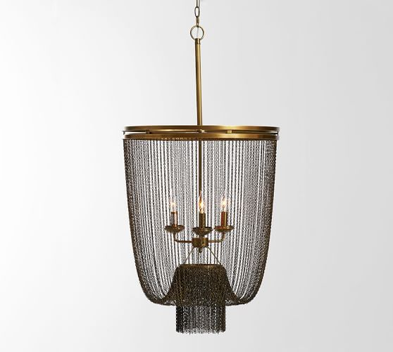 Atherton Chainmail Chandelier Chandelier Vintage Table