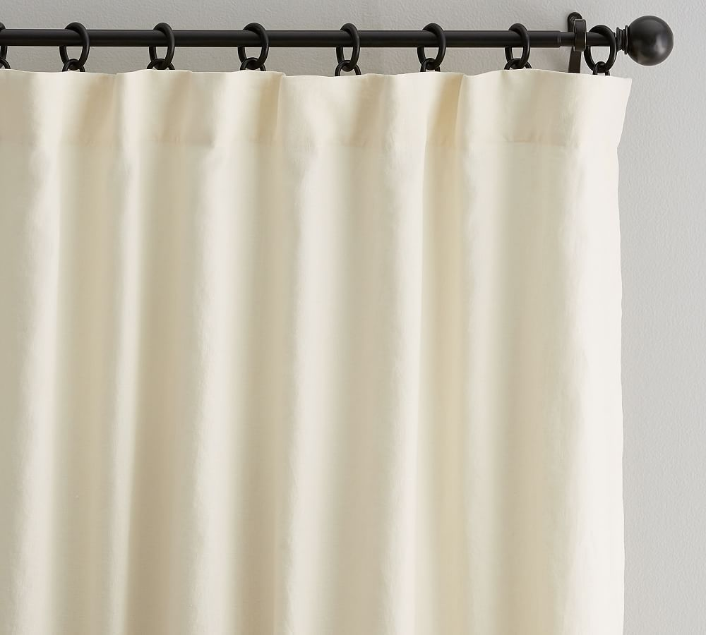 Custom Classic Belgian Linen Curtain Ivory With Images