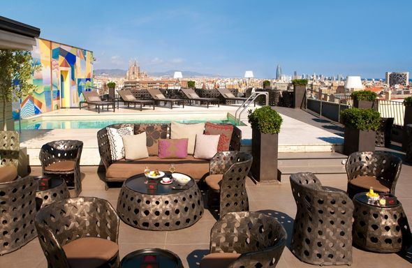 Hotel Majestic Roof Top Barcelona Spain Affordable Bed N
