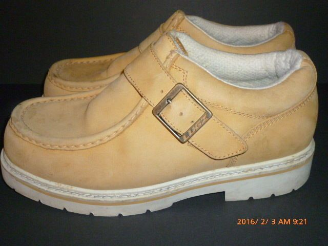 e16e9f759dea Mens LUGZ Strutt Shoes Boots Strap Buckle Suede Leather Wheat Gold USA Sz  8.5  Lugz  Oxfords