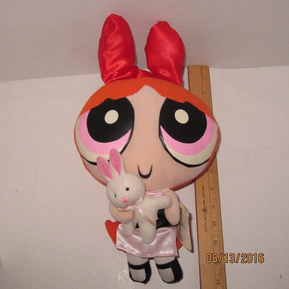 Blossom Holding Bunny Powerpuff Girls 13 Plush Doll Cartoon Network Nanco Ebay Plush Dolls Powerpuff Girls Plush