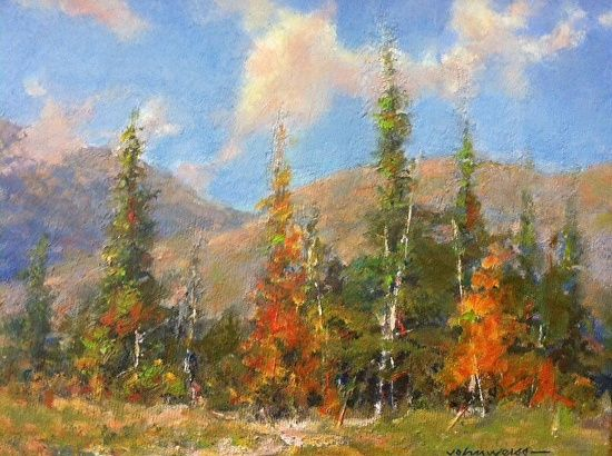 """Fall colors by John Weiss Oil ~ 6"""" x 8"""""""