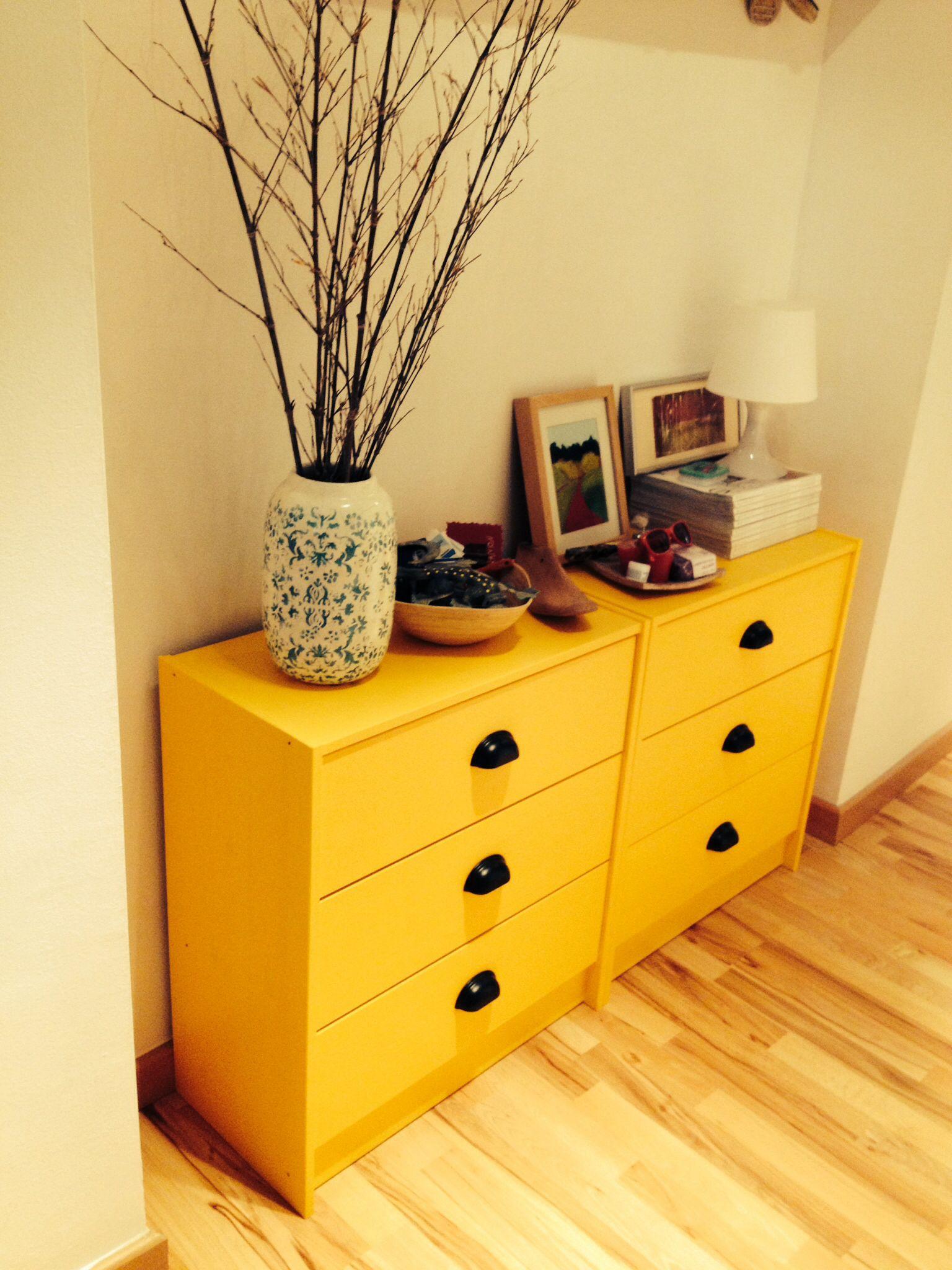 Ikea hack: RAST drawer chest  mustard