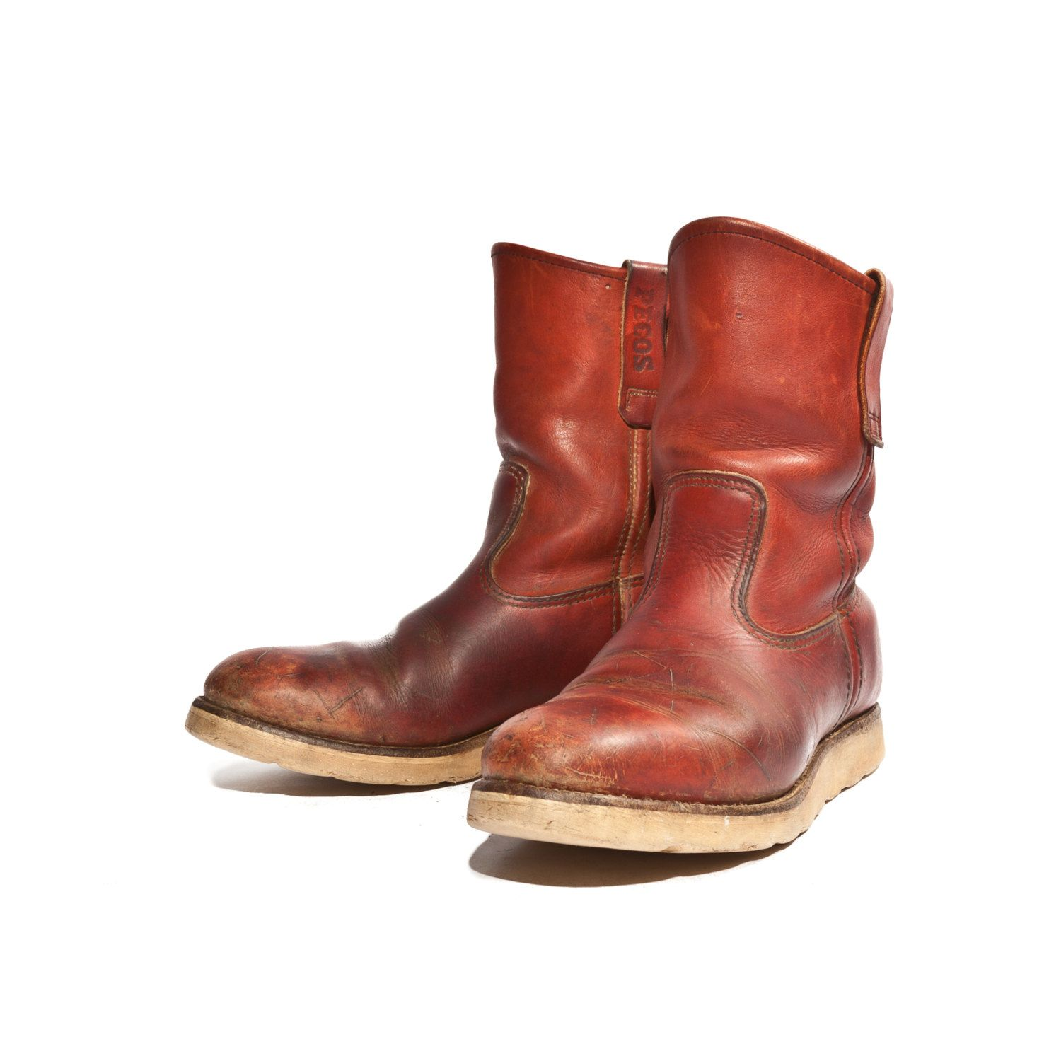 Vintage Red Wing Irish Setter Pecos Boots with Crepe Soles.