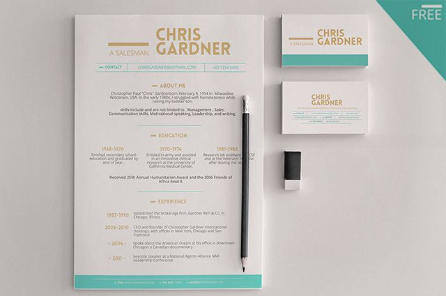free resume template Diseño Pinterest Template and Mockup - free resume design templates