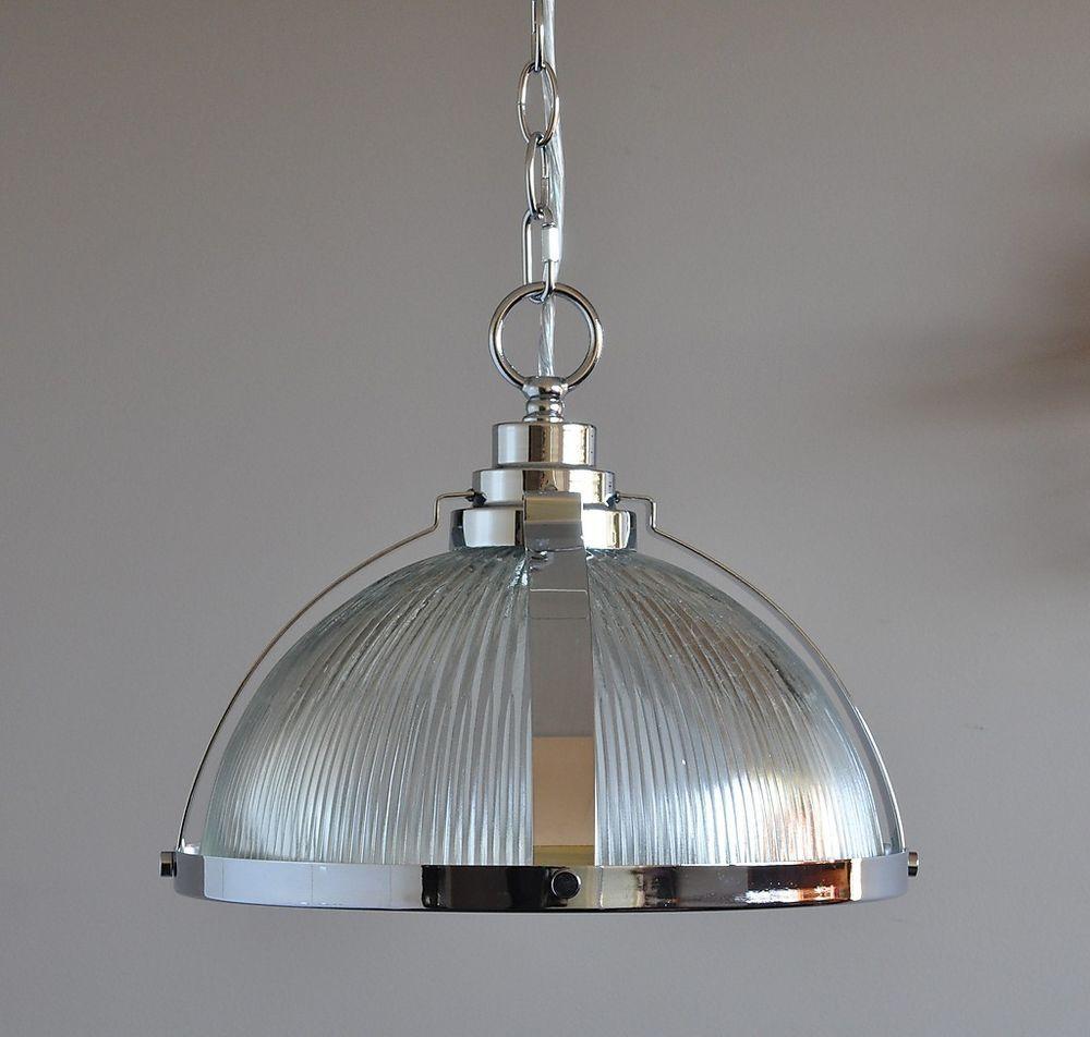 Details About Stockton Industrial Pendant Light Chrome Cafe Kitchen Bench Clear Glass Art Deco Chrome Pendant Lighting Industrial Pendant Lights Hallway Pendant Lighting