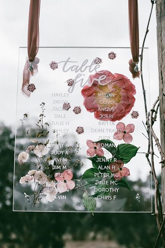 seating chart for wedding reception ideas