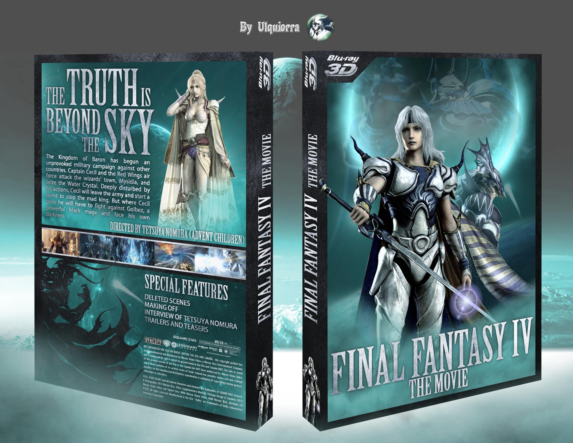Final Fantasy Iv The Movie Box Art Cover Dvd Blu Ray