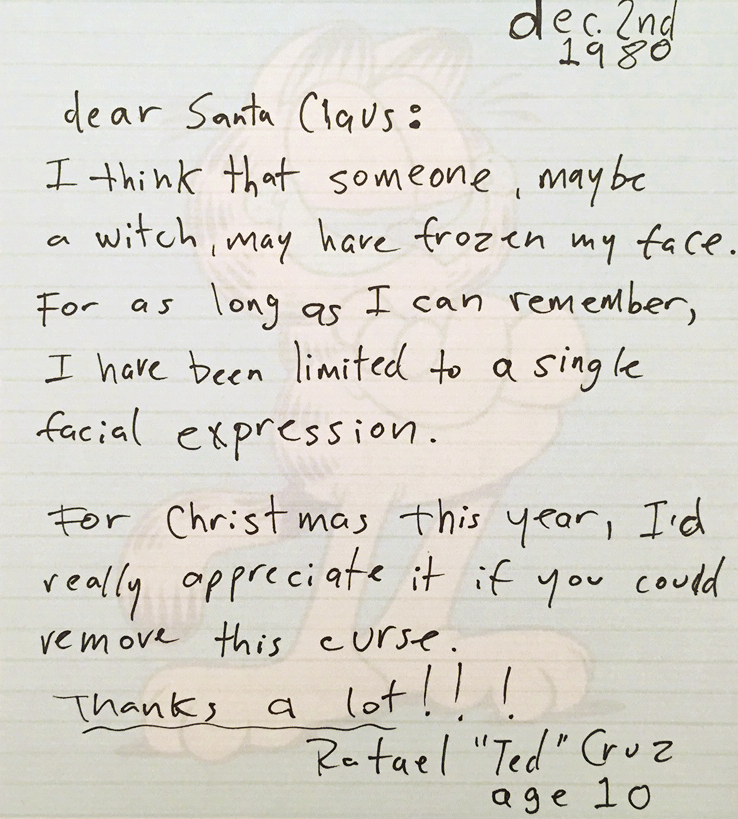 The Candidates Childhood Letters To Santa Claus  The Dandy Goat