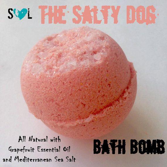 The Salty Dog Bath Bomb Grapefruit Bath Bomb By Scrubsoflovellc
