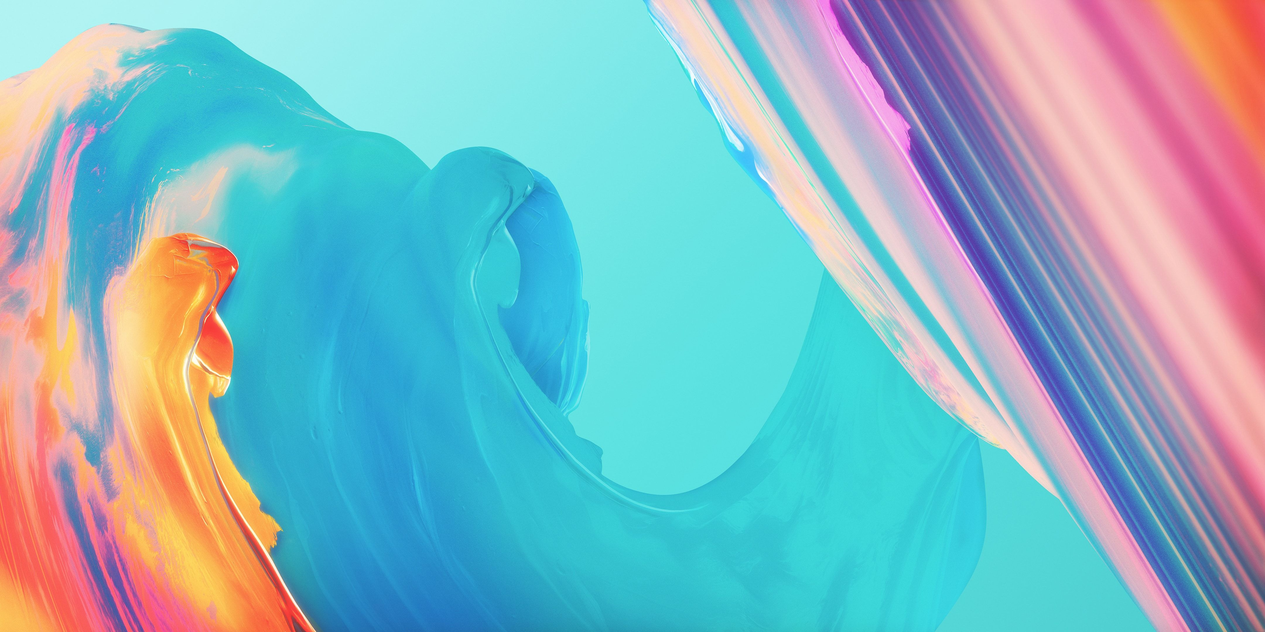 Paint Colorful Waves Oneplus 4k Abstract Painting Wallpaper