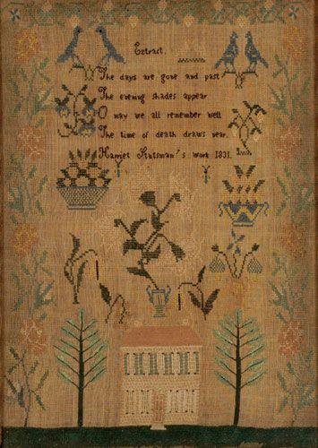 American 1831 Sampler, (2002 Americana & Decorative Arts. November 20.)