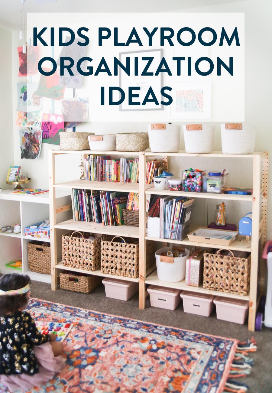 Kids Playroom Ideas - Tips on organizing a dedicated play space #playroom #storage #organization #lifewithkids #cleaning #toystorage #playroomorganization