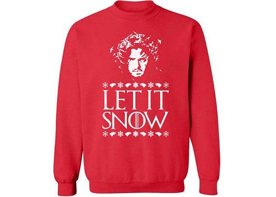 let it snow sweater game of thrones christmas sweater jon snow