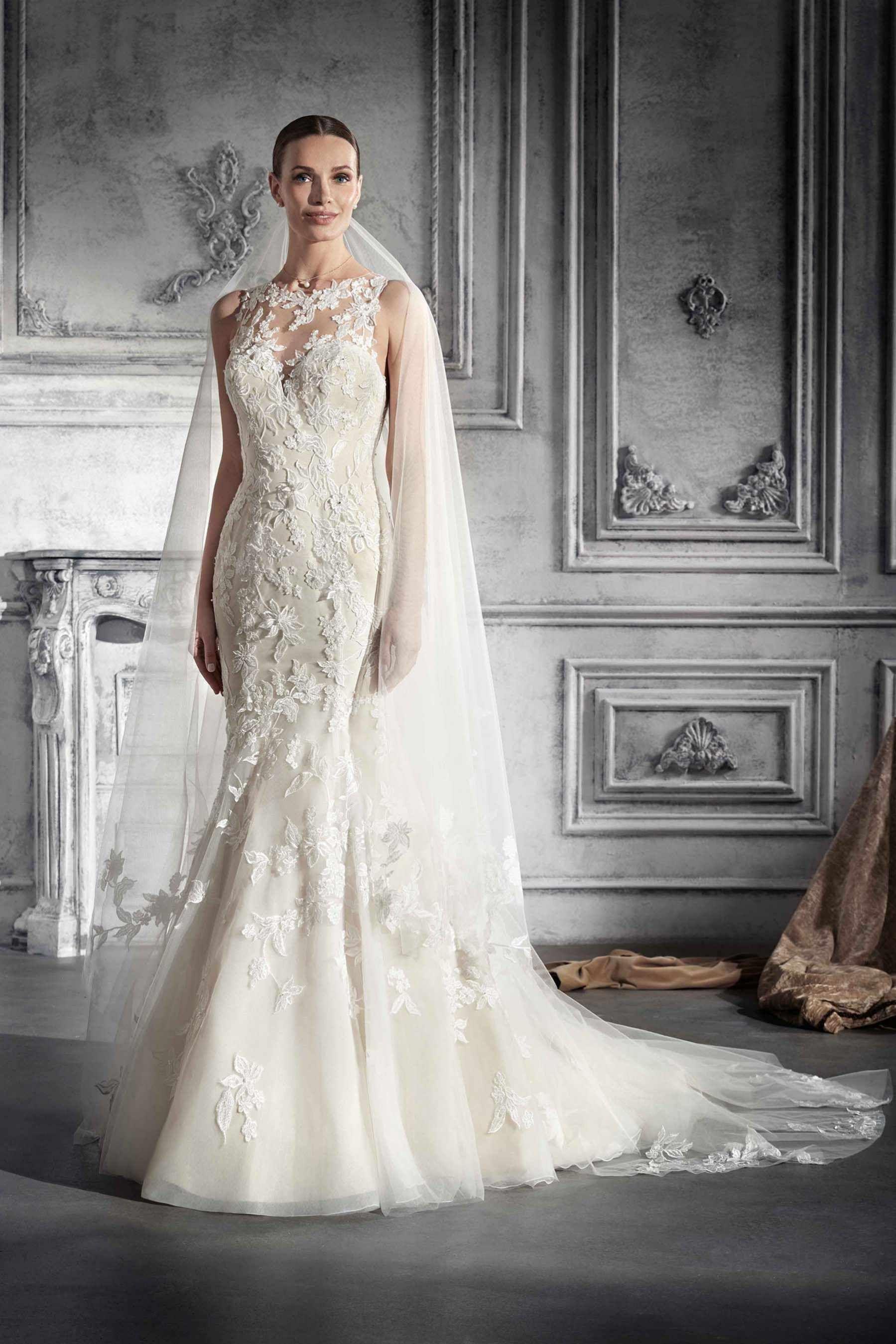 d391b04e0a99 Demetrios Wedding Dress Style 776 Modern femininty takes the spotlight in  this demetrios design. A