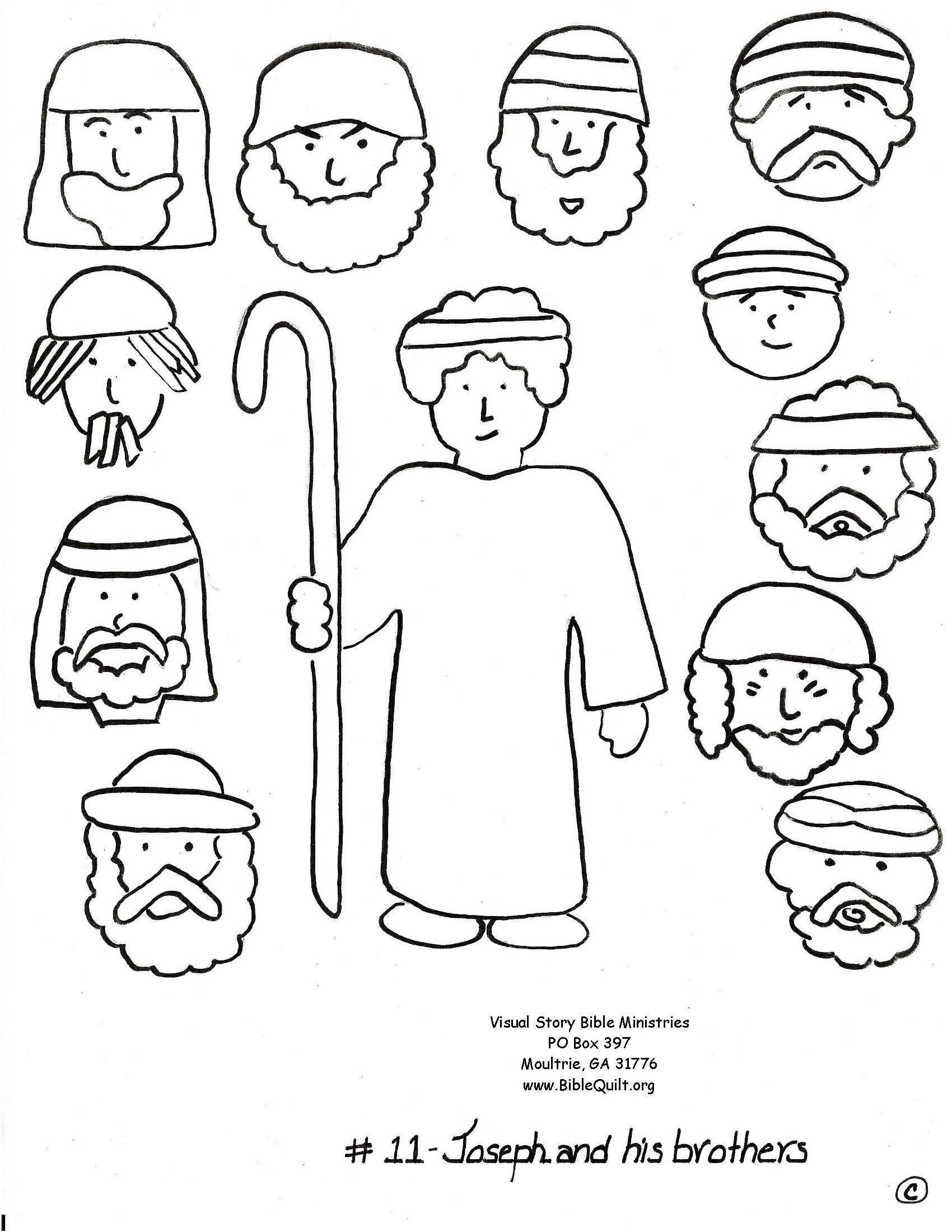 Bible joseph and his brothers free coloring pages on coloring pages