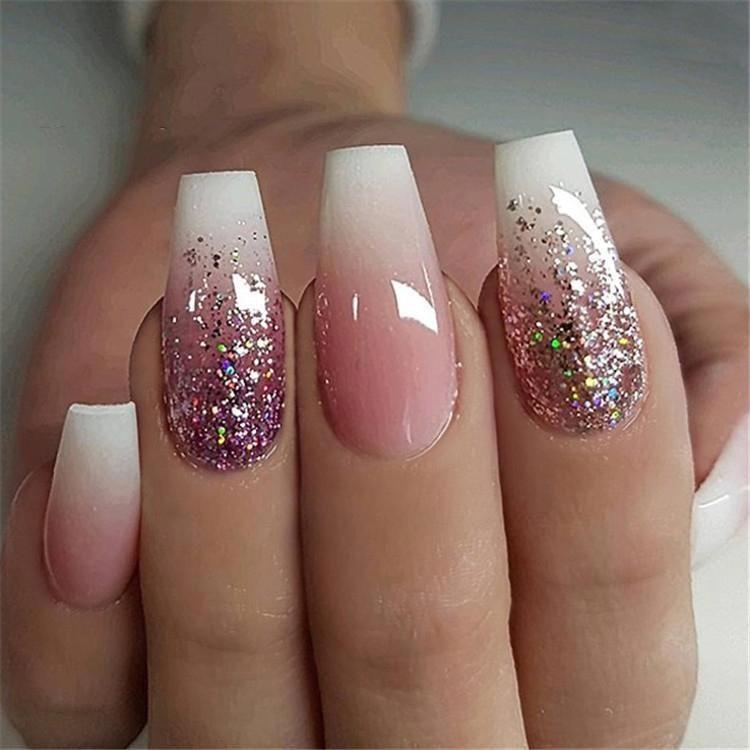 600pcs bag ballerina nail art tips transparent natural false coffin nails art tips flat shape full cover manicure fak posh nails coffin nails long nail designs