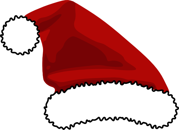 image relating to Santa Hat Printable known as Pin upon CLIP Artwork - SANTA CLAUS - CLIPART