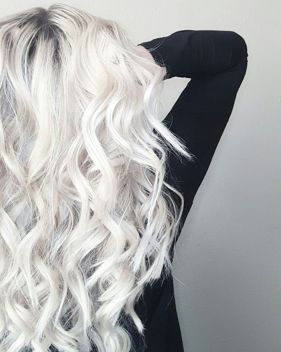 Bellami Extensions Icy Blonde Hair By Stylist Kenzie Kleinert