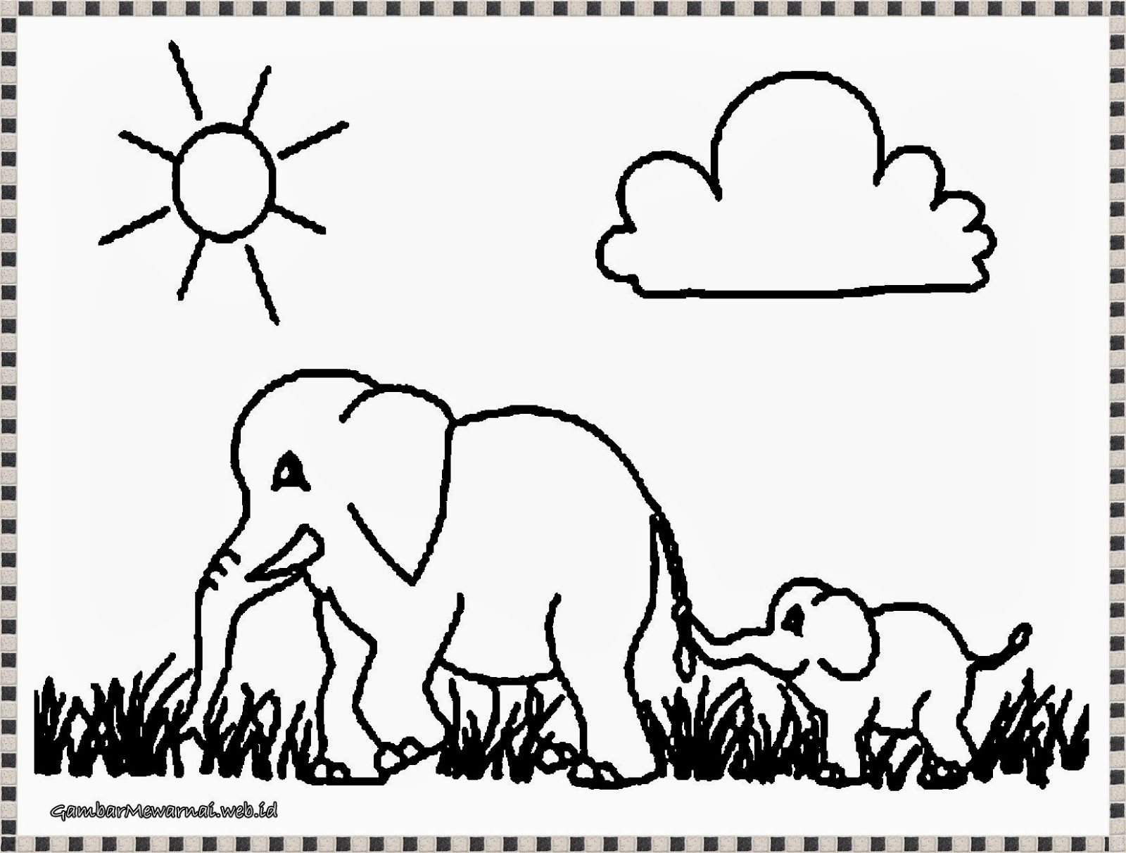 Mewarnai Gambar Gajah Afrika Download Pinterest Coloring Pages